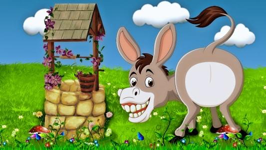 el burro y el pozo